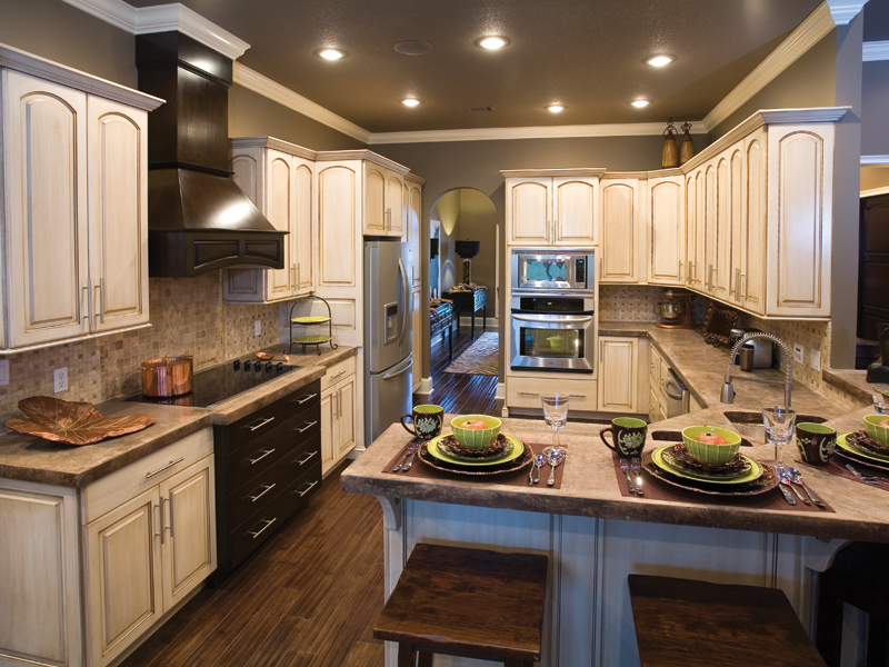 Ranch House Plan Kitchen Photo 02 - Luxury One Story House | Traditional Ranch House