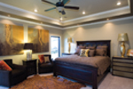 Traditional House Plan Master Bedroom Photo 01 - Luxury One Story House | Traditional Ranch House