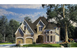 Tudor House Plan Front Photo 01 - Bergamo Manor Luxury Home 055D-0817 | House Plans and More