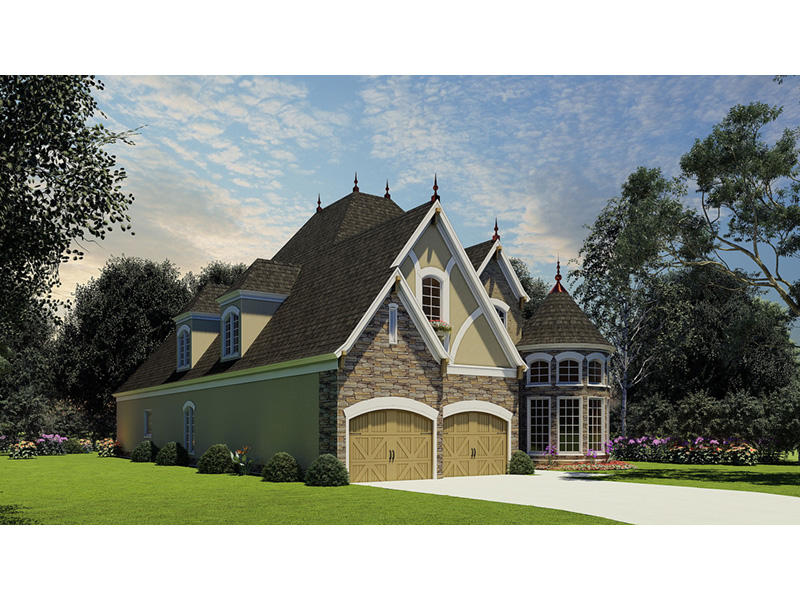 Tudor House Plan Front Photo 02 - Bergamo Manor Luxury Home 055D-0817 | House Plans and More