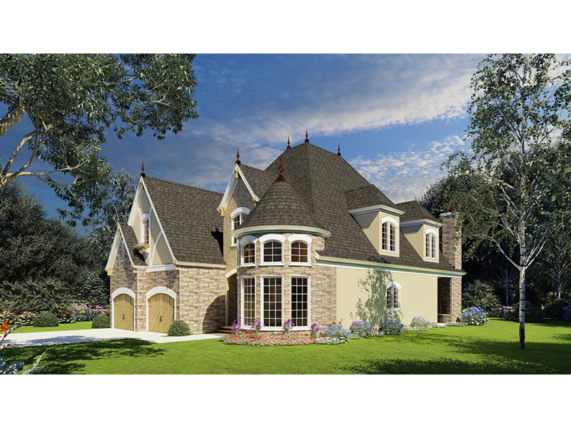 Tudor House Plan Front Photo 03 - Bergamo Manor Luxury Home 055D-0817 | House Plans and More