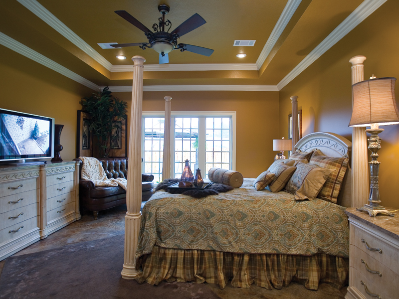 European House Plan Master Bedroom Photo 01 - Bergamo Manor Luxury Home 055D-0817 | House Plans and More