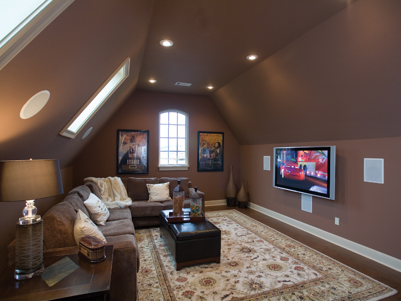 European House Plan Media Room Photo 01 - Bergamo Manor Luxury Home 055D-0817 | House Plans and More