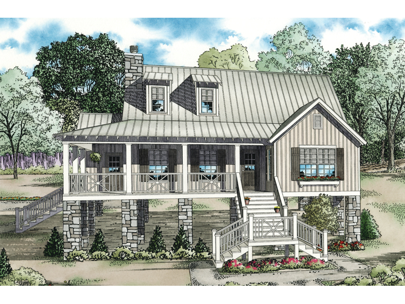 Maguire Raised Lowcountry Home Plan 055D-0847 | House Plans ... on raised ranch home plans, raised coastal home plans, raised southern home plans, low country cottage plans,