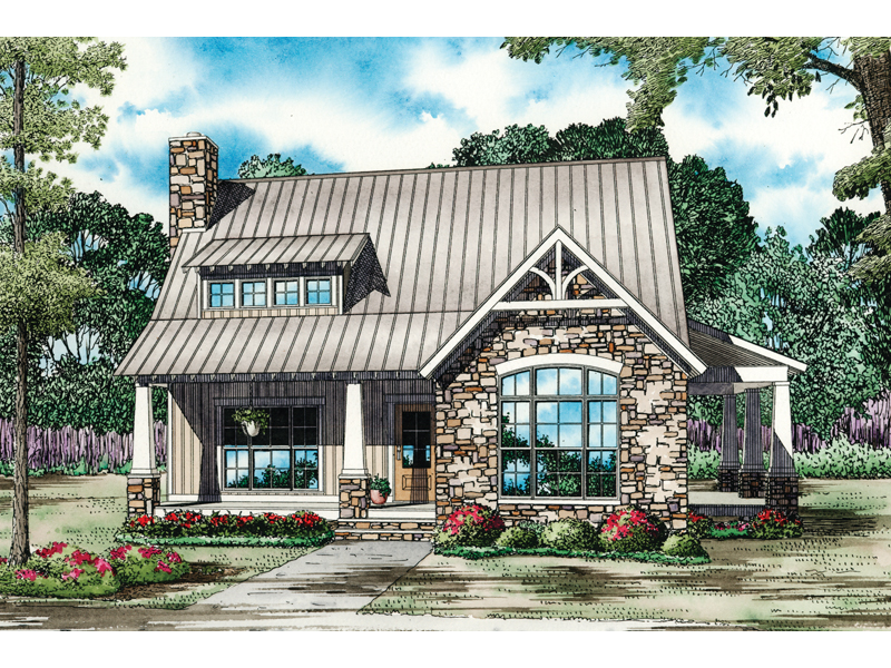 Cabin & Cottage House Plan Front of Home - Balcarra English Cottage Home 055D-0862 | House Plans and More