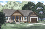Ranch House Plan Front of House 055D-0933