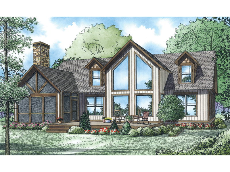 Lake House Plan Rear Photo 01 - Aspen Edge Craftsman Home 055D-0933   House Plans and More