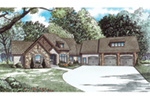 Waterfront House Plan Front of House 055D-0937