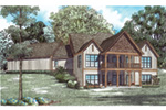 Ranch House Plan Rear Photo 01 - Dellwood Drive European Home 055D-0937 | House Plans and More