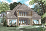 English Cottage House Plan Rear Photo 01 - Lindenwood Cove Tudor Home 055D-0938 | House Plans and More
