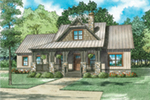Lake House Plan Front of House 055D-0939