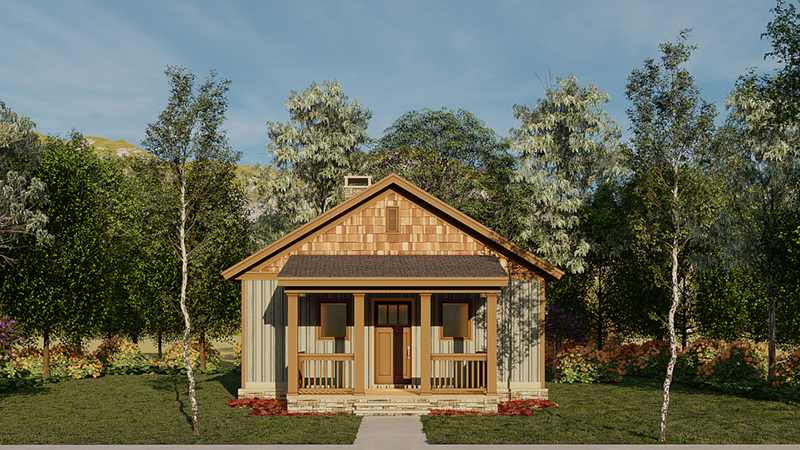 Lake House Plan Front of Home - Ridge View Rustic cabin 055D-0941 | House Plans and More