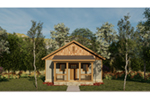 Lake House Plan Front of House 055D-0941