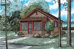 Mountain Home Plan Front of House 055D-0942