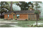 Lake House Plan Front of House 055D-0943