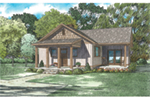 Mountain Home Plan Front of House 055D-0945