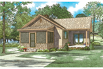Lake House Plan Front of House 055D-0946