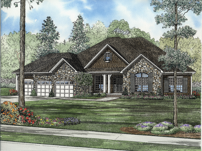 Country House Plan Front of Home - Dogwood Drive Country Home 055D-0947   House Plans and More