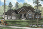 Rustic Home Plan Front of House 055D-0947