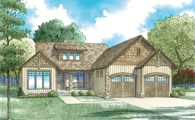 Rustic Home Plan Front of Home - Westmeyer Craftsman Home 055D-0953 | House Plans and More