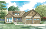 Rustic Home Plan Front of House 055D-0953