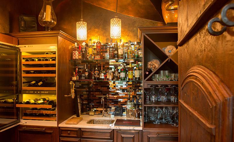European House Plan Bar Photo 02 - Carminda Luxury European Home 055D-0957 | House Plans and More