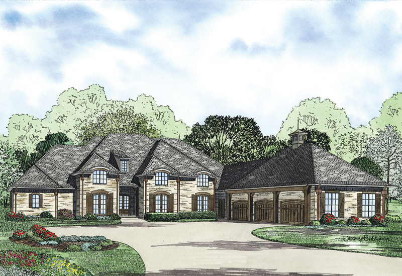 Luxury House Plan Front Image - Wilmer Valley Luxury Home 055D-0958 | House Plans and More