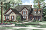 Traditional House Plan Front of House 055D-0959