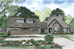 Mountain Home Plan Front of Home - Mayshire European Home 055D-0961 | House Plans and More