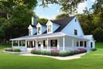 Modern Farmhouse Plan Front of Home - Raven Ranch Country Home 055D-0976 | House Plans and More