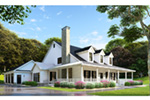 Modern Farmhouse Plan Front Photo 01 - Raven Ranch Country Home 055D-0976 | House Plans and More