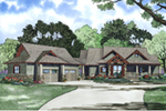 Southern House Plan Front Image - Meadford Country Ranch Home 055D-0977 | House Plans and More