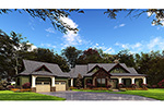 Lake House Plan Front of Home - Meadford Country Ranch Home 055D-0977 | House Plans and More