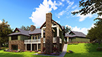 Beach & Coastal House Plan Rear Photo 01 - Meadford Country Ranch Home 055D-0977 | House Plans and More