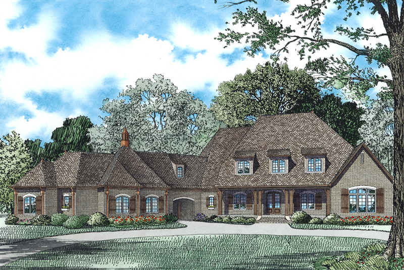 Luxury House Plan Front of Home - Lombardo Luxury European Home 055D-0978 | House Plans and More
