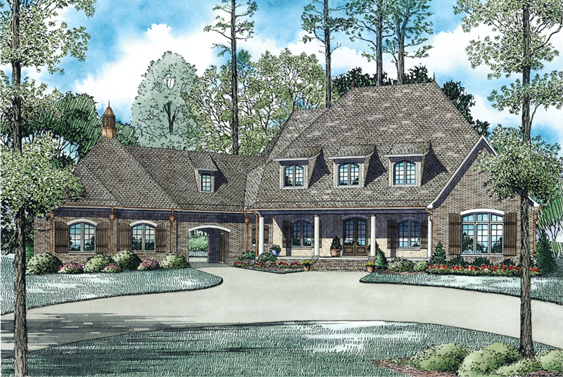 Country House Plan Front Image - Glengarrie Luxury Home 055D-0983 | House Plans and More