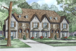 European House Plan Front of Home - Palo Quarry Multi-Family Home 055D-1015 | House Plans and More