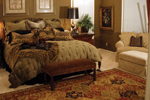 Country French House Plan Bedroom Photo 02 - Patricia Luxury Home 055S-0027   House Plans and More