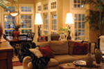 Country French House Plan Great Room Photo 02 - Patricia Luxury Home 055S-0027   House Plans and More