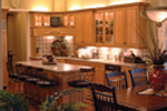 Country French House Plan Kitchen Photo 02 - Patricia Luxury Home 055S-0027   House Plans and More