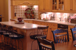 Country French House Plan Kitchen Photo 03 - Patricia Luxury Home 055S-0027   House Plans and More