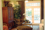 Country French House Plan Living Room Photo 02 - Patricia Luxury Home 055S-0027   House Plans and More