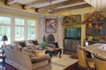 Traditional House Plan Living Room Photo 01 - Glenvalley Luxury Home 055S-0036 | House Plans and More