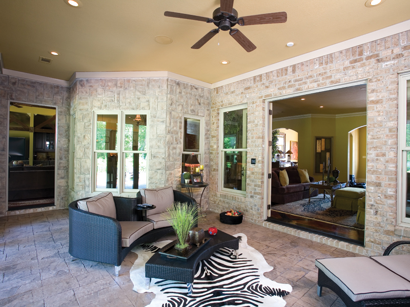 Traditional House Plan Outdoor Living Photo 01 - Glenvalley Luxury Home 055S-0036 | House Plans and More