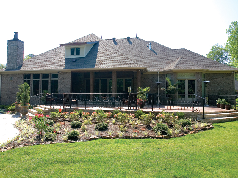 Traditional House Plan Rear Photo 02 - Glenvalley Luxury Home 055S-0036 | House Plans and More