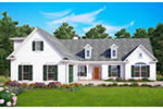 Traditional House Plan Front of House 056D-0044