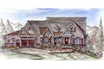 Mountain Home Plan Front of House 056D-0074