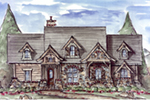 Craftsman House Plan Front of House 056D-0075