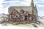 Mountain Home Plan Front of House 056D-0076