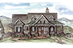 Mountain Home Plan Front of House 056D-0077